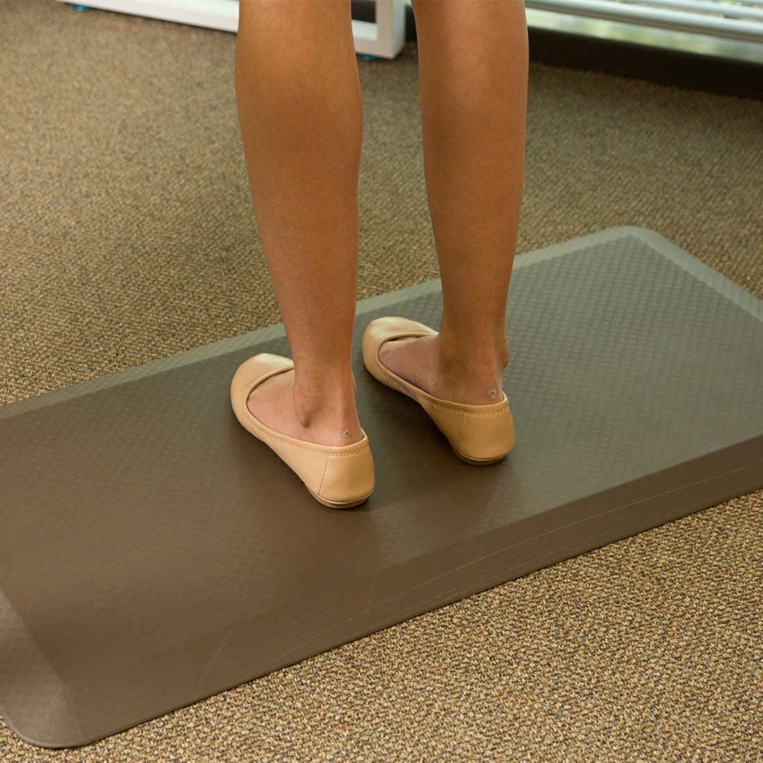 Clearance! Flexispot Anti-Fatigue Non-Slip Comfort Kitchen Floor Mat Standing Desk Mat (32 x 20 Brown) by FLEXISPOT