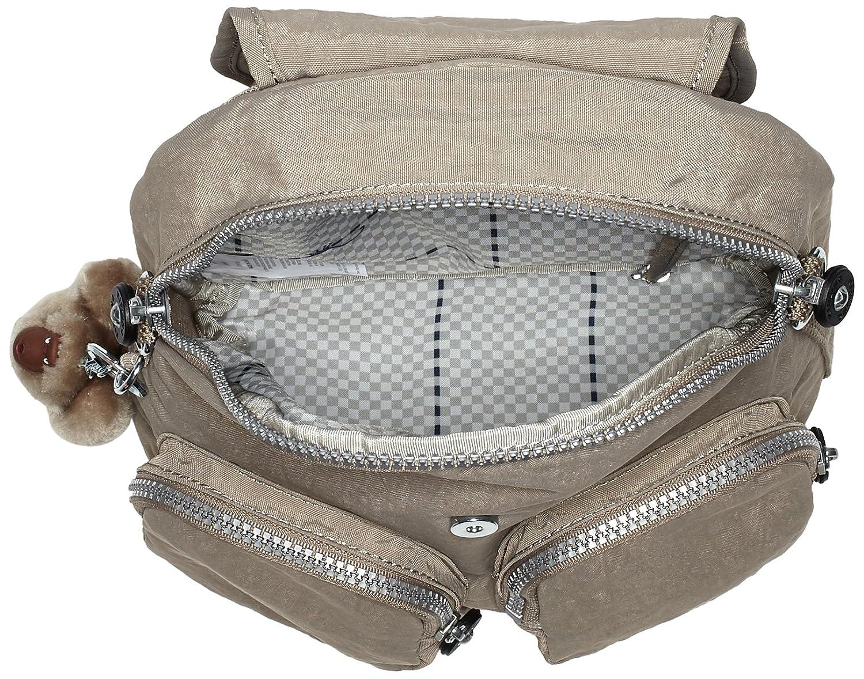 Warm Grey Kipling Backpack,