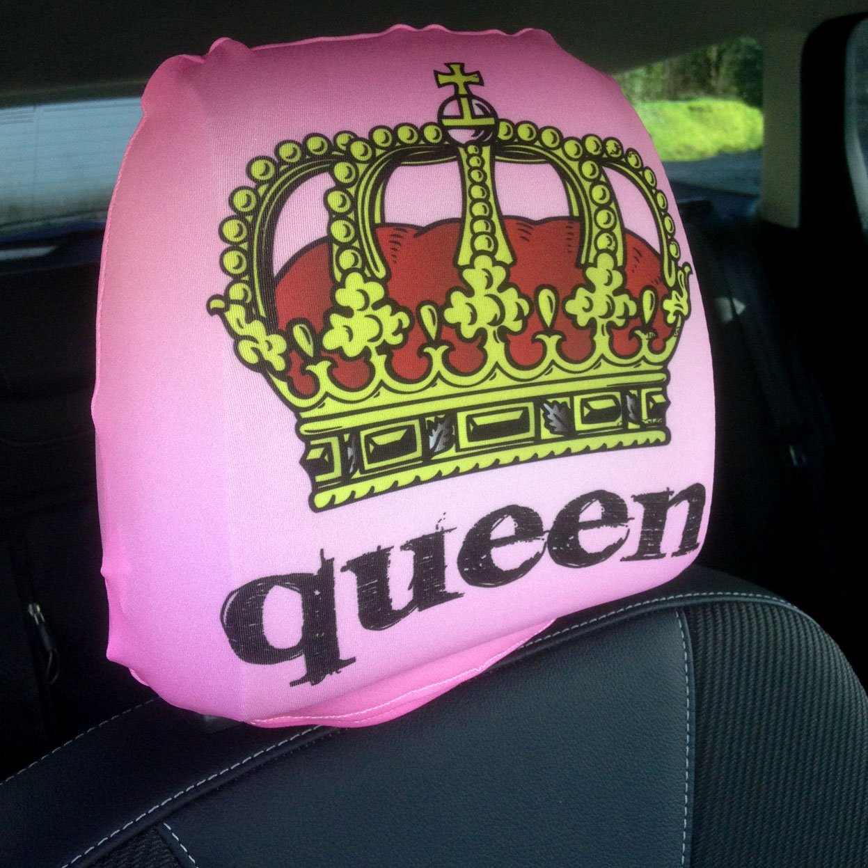CAR SEAT HEAD REST COVERS 2 PACK KING QUEEN CROWN DESIGN MADE IN YORKSHIRE Amazoncouk Car Motorbike