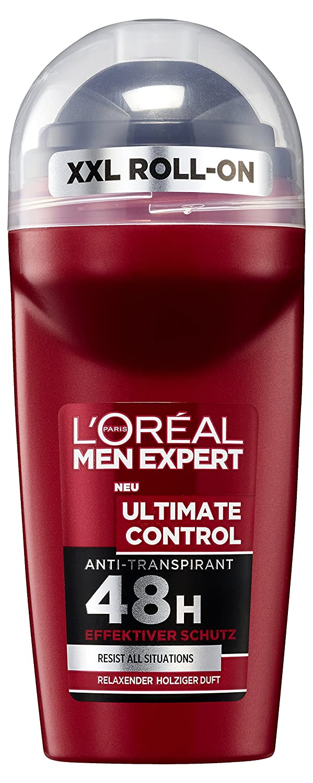 L 'Oréal Men expert Desodorante Roll On Ultimate Control, pack de 6 (6 x 50 ml) L'Oréal Men Expert A95311