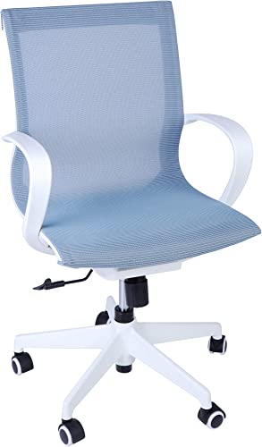 LUCKYERMORE Home Office Chair Swivel Task Chair 300Lb Capacity Heavy Duty Mesh Chair Breathable Back Seat Height Adjustable