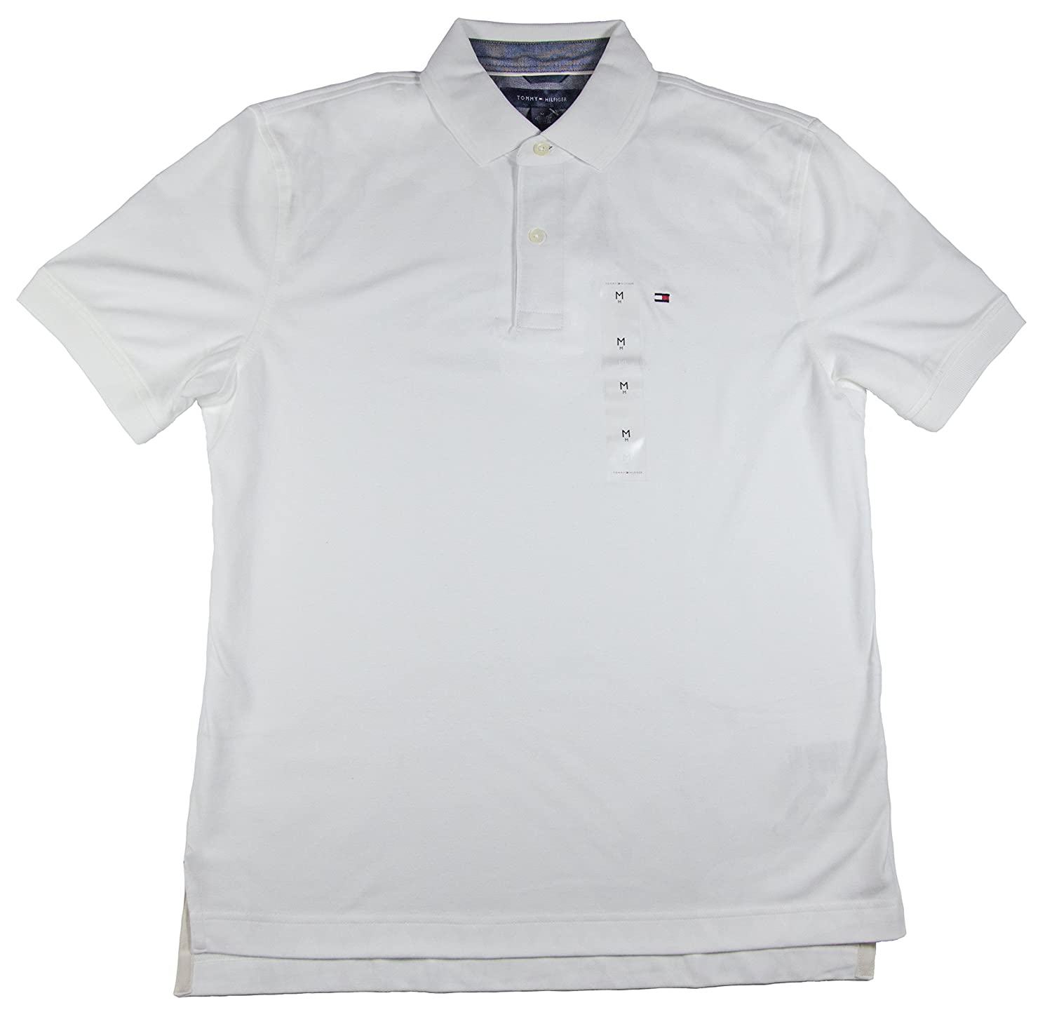 c1d524ac Tommy Hilfiger Mens Interlock Polo, White, X-Large at Amazon Men's Clothing  store: