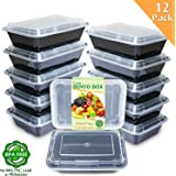 Amazon Price History for:Enther Meal Prep Containers [12 Pack] Single 1 Compartment with Lids, Food Storage Bento Box | BPA Free | Stackable | Reusable Lunch Boxes, Microwave/Dishwasher/Freezer Safe,Portion Control (28 oz)