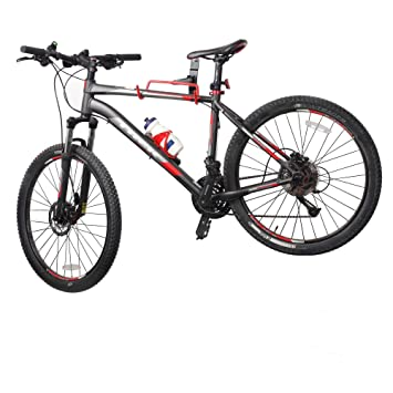 vaiigo doble gancho plegable montado en la pared bicicleta de almacenamiento Rack percha soporte de bicicleta
