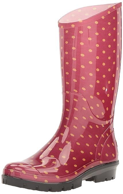 17060647454 Columbia Women's Rainey Tall Print Rain Boot, Rocket/Bling, 8 B US