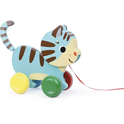 Vilac Pull Toy, Marcel The Cat : Push And Pull Baby Toys : Baby