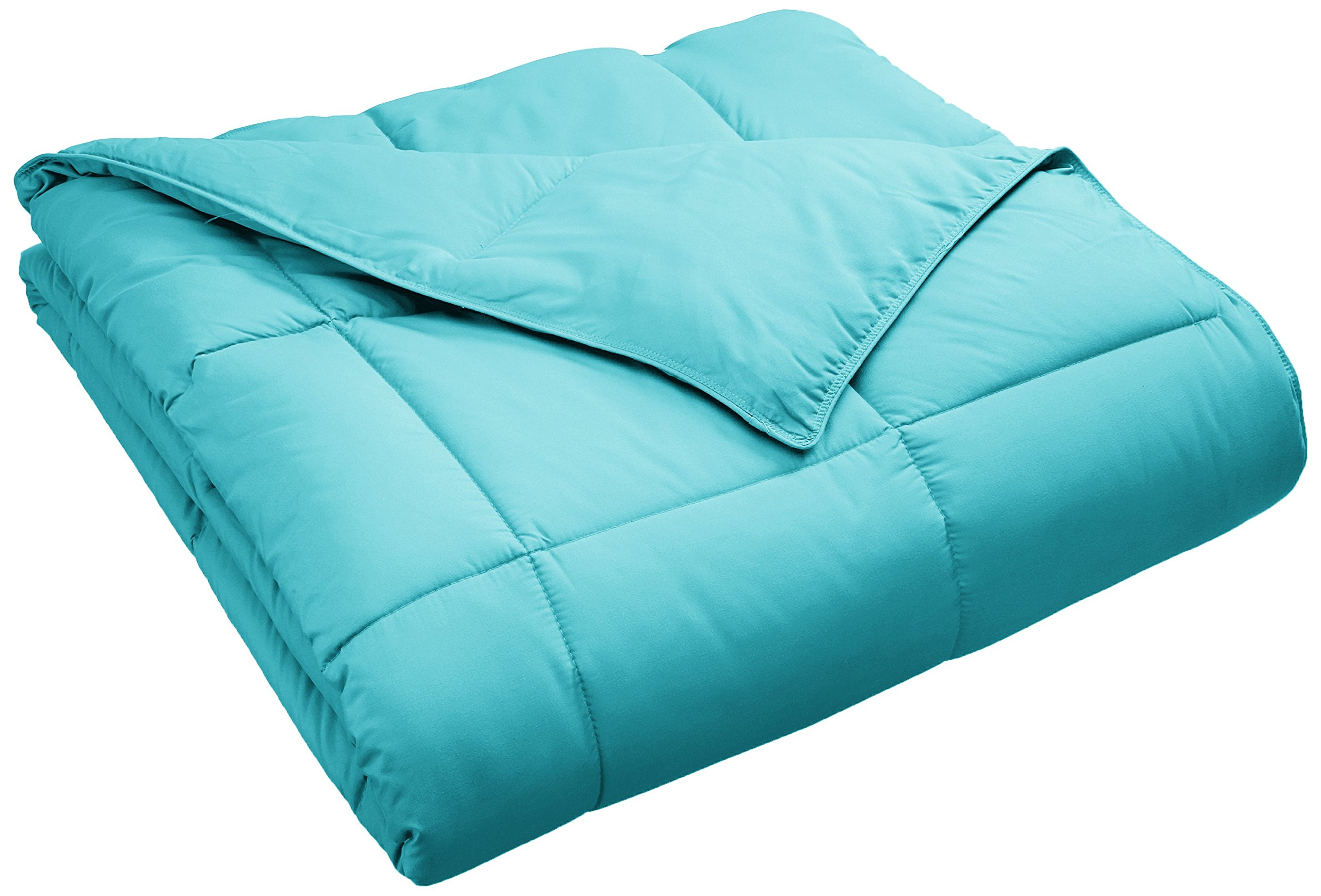 Superior Classic All-Season Down Alternative Comforter with Baffle Box Construction, Warm Hypoallergenic Filling - Twin Comforter, Turquoise
