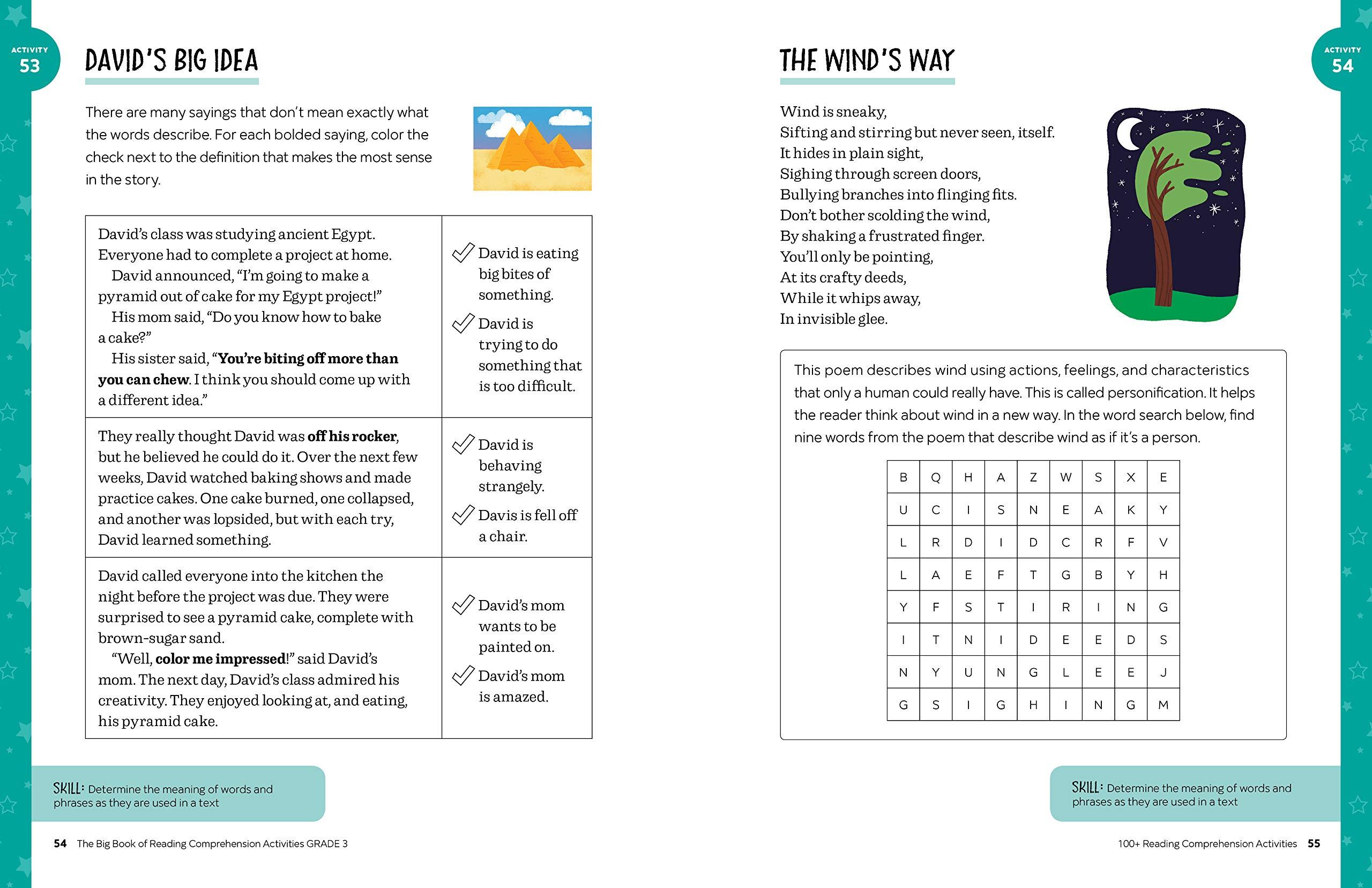 - Amazon.com: The Big Book Of Reading Comprehension Activities