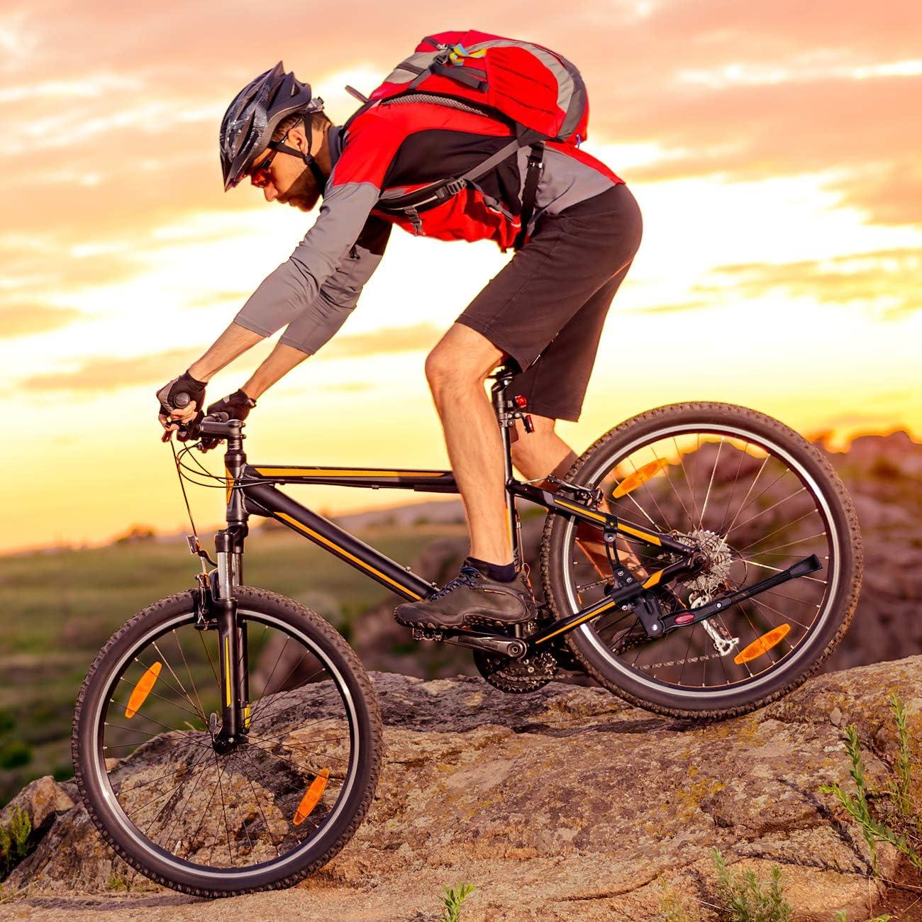 Favoto Universal Fahrrad St/änder Einstellbarer Fahrradst/änder Hinterbaust/änder Aluminiumlegierung Rutschfester Seitenst/änder f/ür 26 28 Zoll Mountainbike Rennrad MTB Zubeh/öre