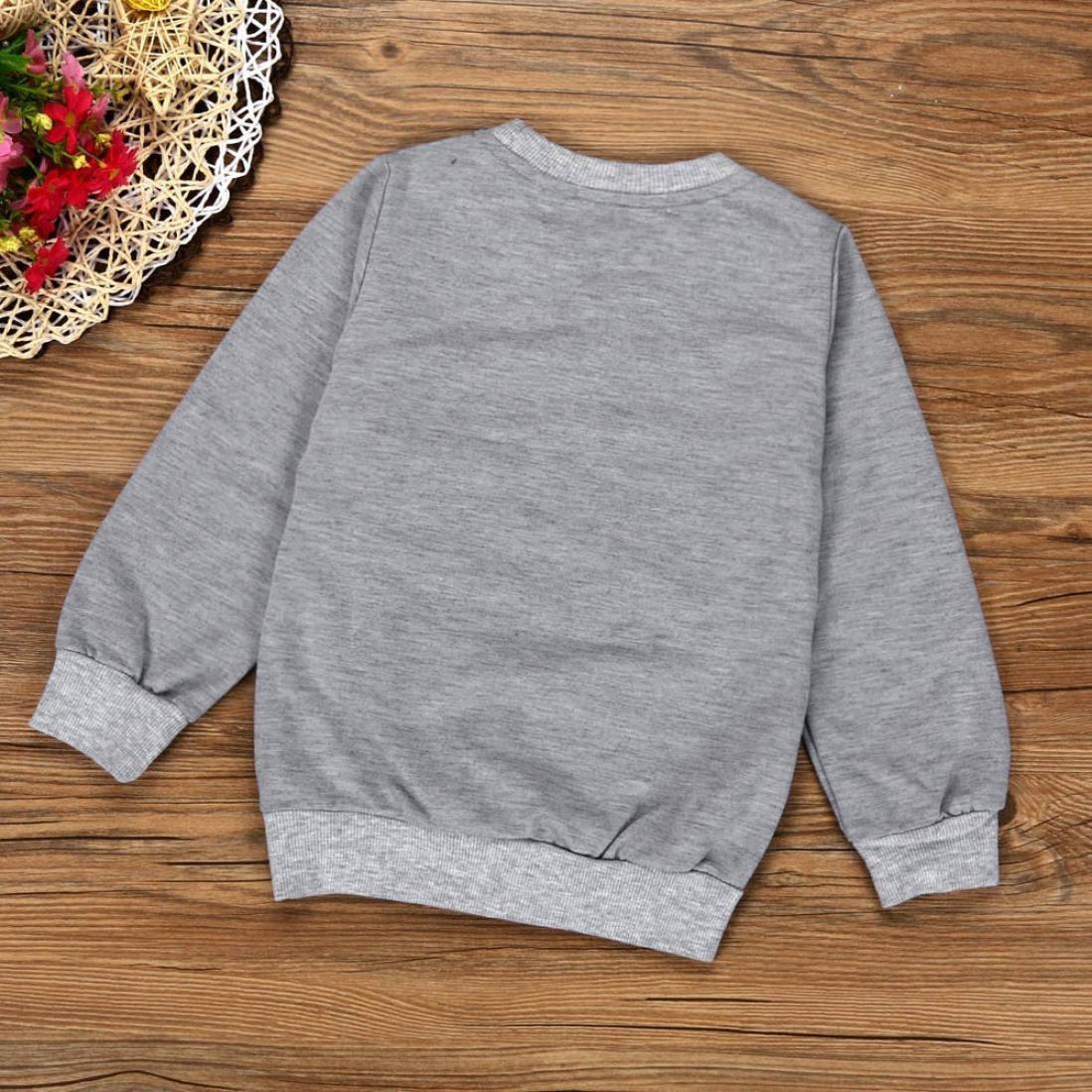 Internet B/éb/é Filles Gar/çons Enfants Lettres imprim/ées T-Shirt /à Manches Longues Pantalons Ensemble Coton m/élang/é Pantalons
