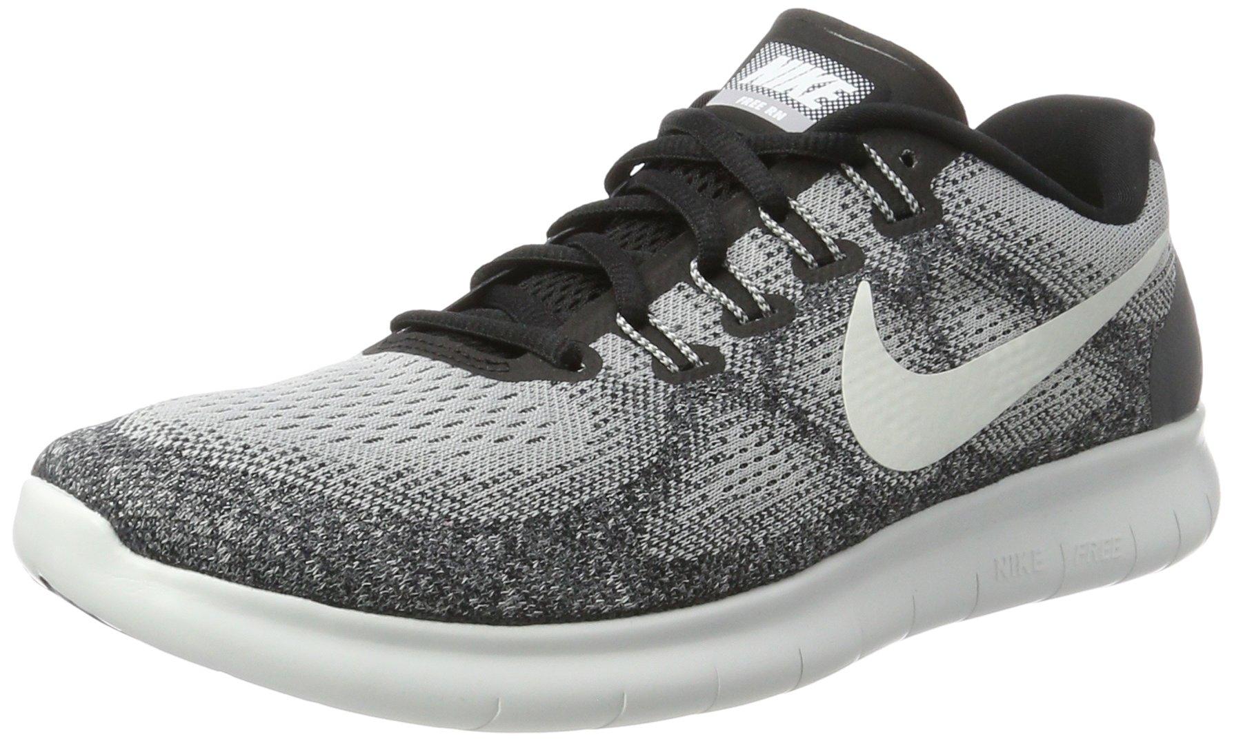 Nike Men's Free RN 2017 Running Shoes (7.5, Grey/White/Black-M)