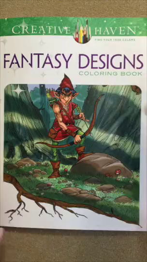 This Is A Coloring Book Filled With 30 Really Great Fantasy Designs Everything From Dragons To Gnomes Unicorns And Much More