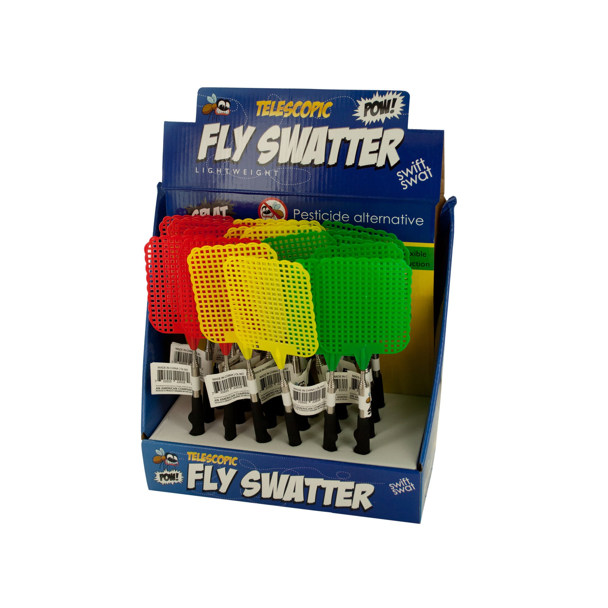 123-Wholesale - Set of 24 Telescopic Fly Swatter Countertop Display - Household Supplies Pest Control by 123-Wholesale (Image #2)