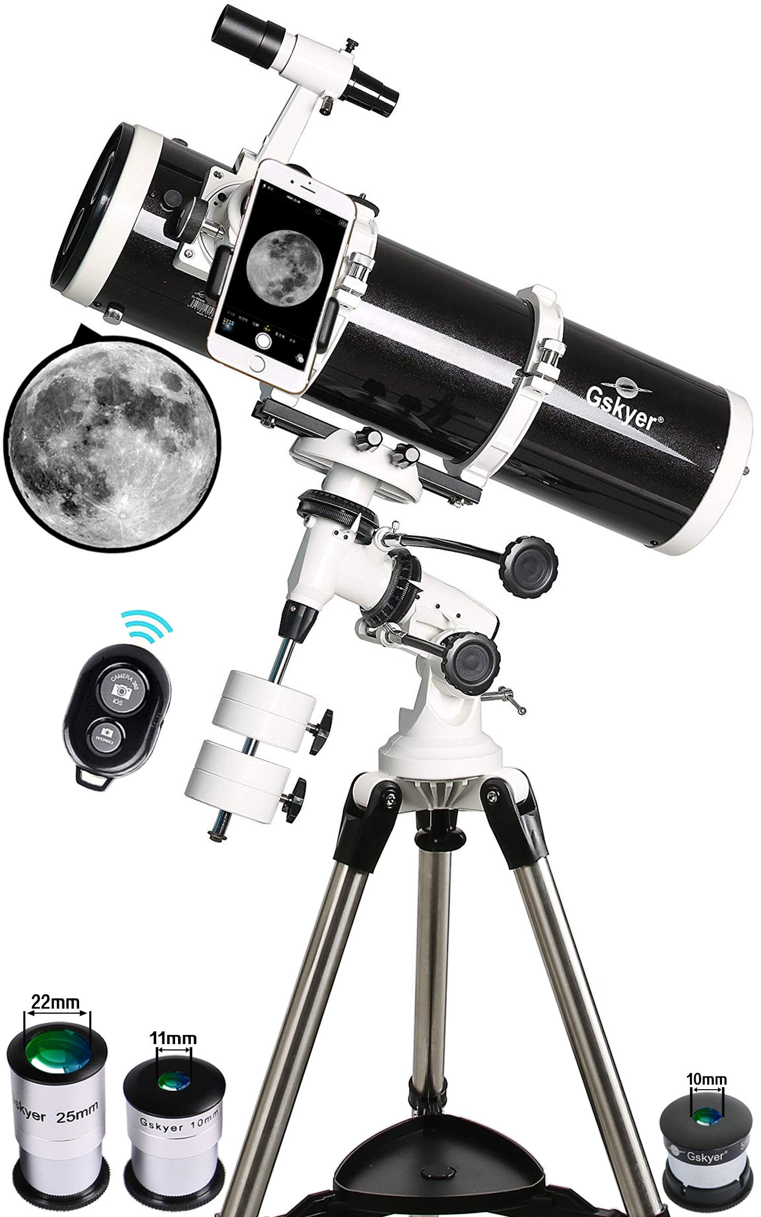 Gskyer Telescope, 130EQ Professional Astronomical Reflector Telescope, German Technology Scope by Gskyer