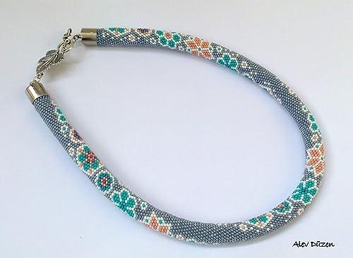 Beads crocheted knitted necklace bracelet beaded Flowers beaded style fashion beauty gold flower style women unisex jewellery luxury men