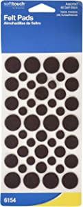 Waxman Consumer Group 4615495n Brown Self-Stick Round Felt Pads Assorted Sizes 46 Count