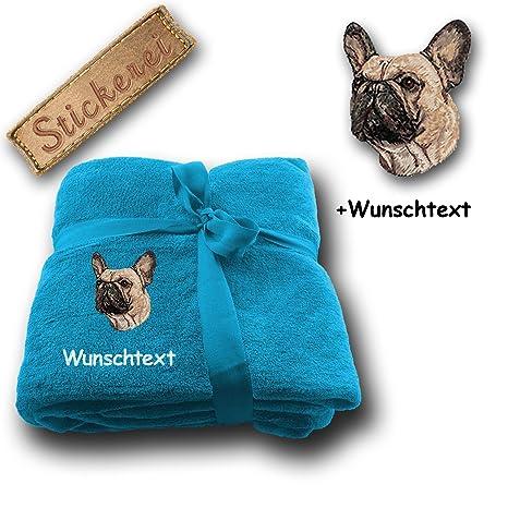 Spetebo – Manta Manta perro bulldog francés M1 + personalizado Texto a elegir