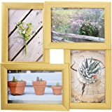 "AmazonBasics 4-Pane Photo Frame - 4"" x 6"" Photos, Brass"