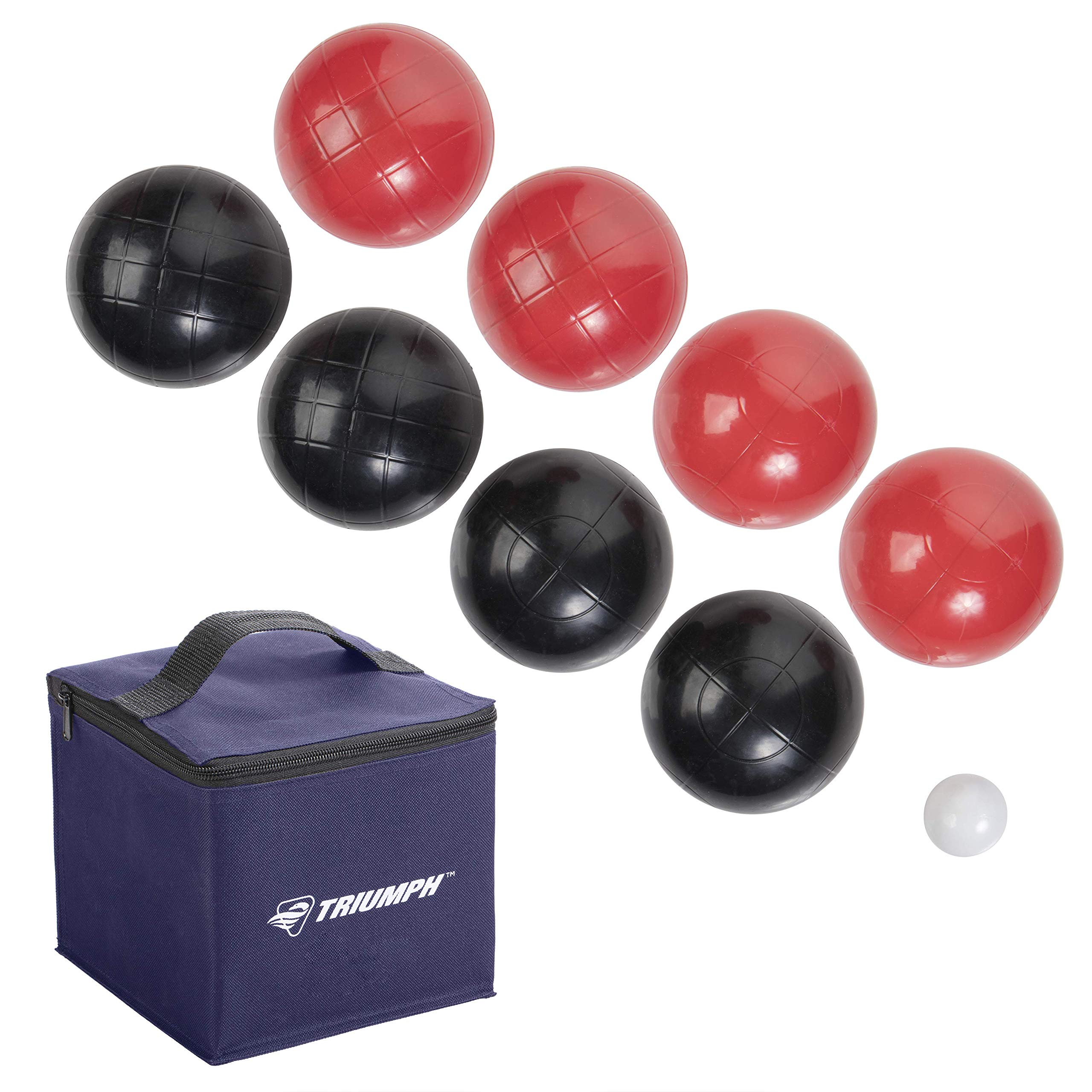 Triumph Recreational Outdoor Bocce Ball Set Includes 8 Bocce Balls, Jack, and Sports Carry Bag by Triumph Sports