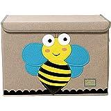 Gran caja de almacenamiento con tapa, plegable y resistente, ideal para que tus hijos guarden los juguetes, marca TruReey
