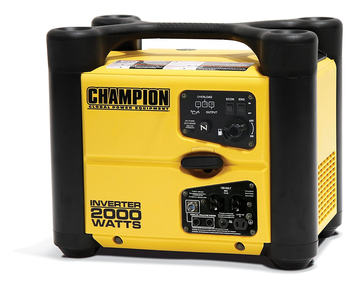 Champion 2000 Watt Stackable Portable Inverter Hw 2000i Wiring Diagram Generator Vehicle Power Inverters Garden Outdoor