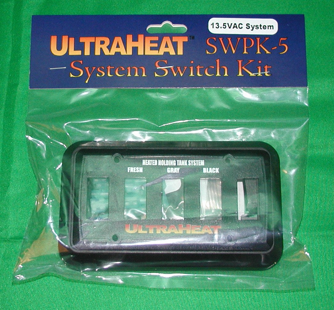 UltraHeat - 5 Gang System Kit Switch Package, with Lighted Switches, 13.5 VDC by UltraHeat