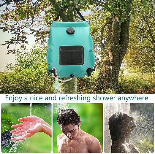 20L Campingdusche Solardusche Outdoor Dusche Wassersack Heizung Thermometer G0S6