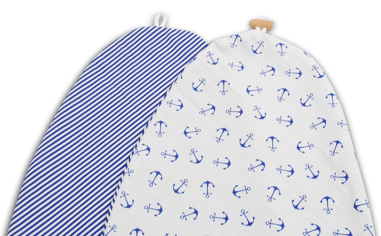 Stillkissen Lagerungskissen in verschiedenen Farben und Designs von baBice Muster:Anker//Streifen