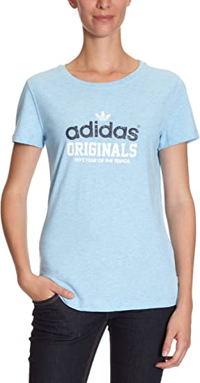 adidas X33275 T Shirt pour femme Collegiate Bleu clair