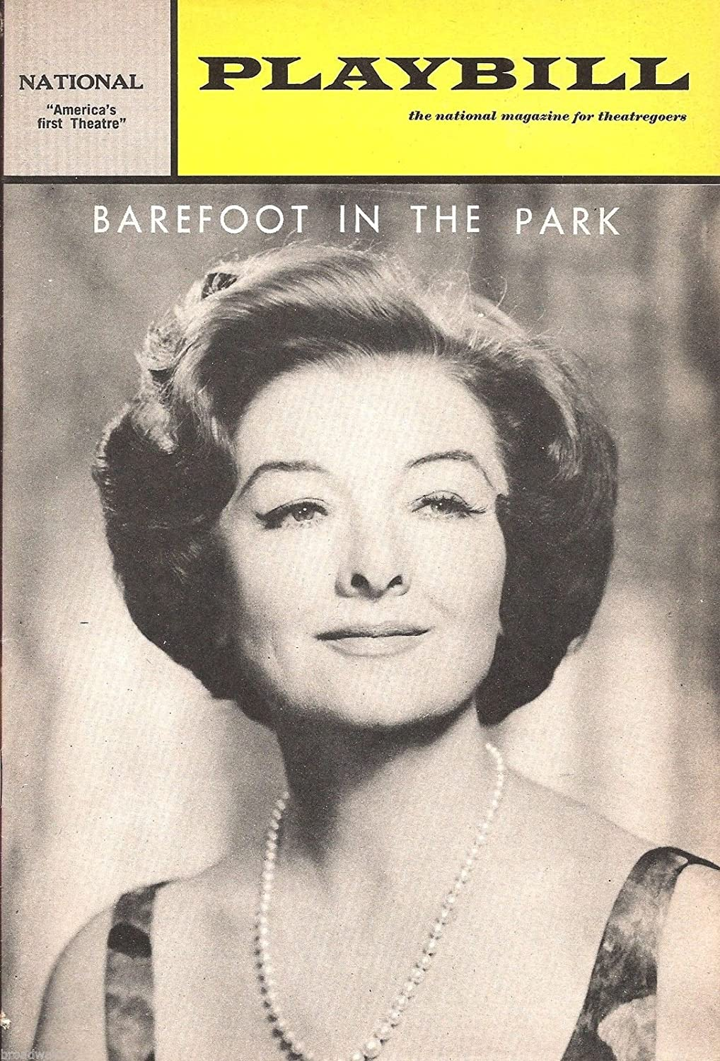 Myrna Loy'BAREFOOT IN THE PARK' Neil Simon 1966 Washington, D.C. Playbill
