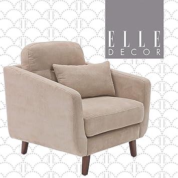 Amazon.com: Elle Decor Chloe Upholstered Living Room Armchair ...
