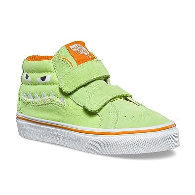 c4c97d047fffe Vans Kids SK8-Mid Reissue V (Monster Face) Green Russet Orange VN0A346YU4R