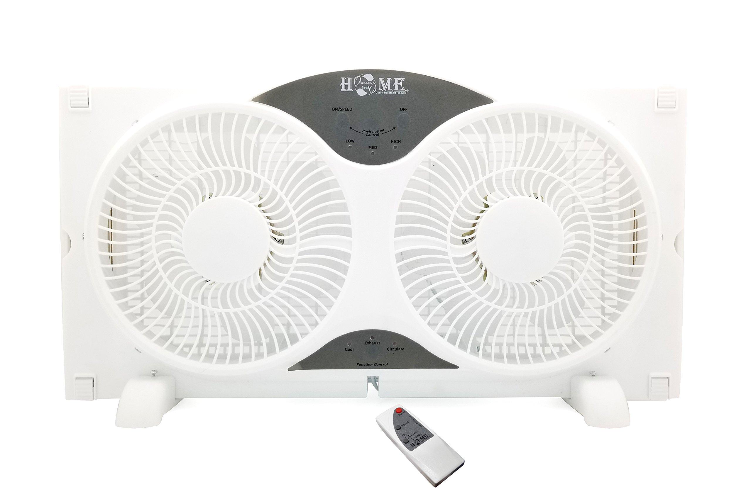 8061 Uniware 9'' Twin Window Fan, 3 Speed, 3 Fand Function, with Etl Certification, with Remote