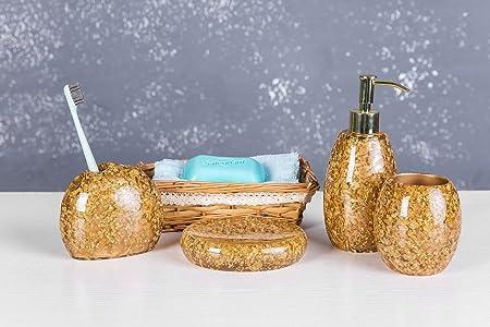 siloko lujo Royal resina Broken Goldleaf 4 piezas Juego de ...