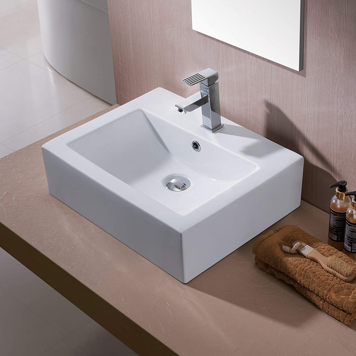 Luxier CS-003 Bathroom Porcelain Ceramic Vessel Vanity Sink Art Basin
