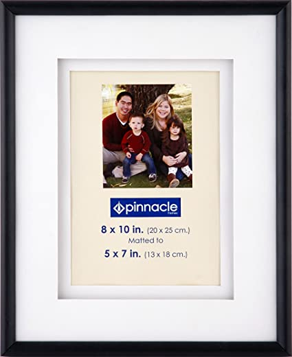 Amazon.com - Pinnacle Frames Black Airfloat Frame with White Mat, 8 ...