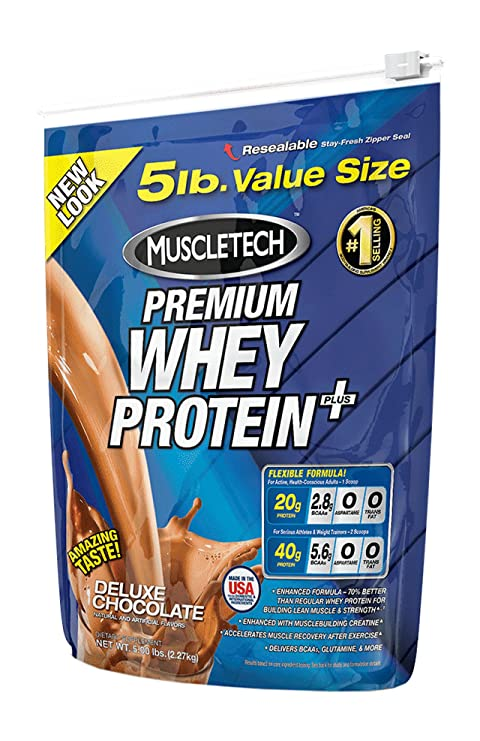 Muscletech 100% Premium Whey Protein Plus - 5 Lbs (Deluxe Chocolate)