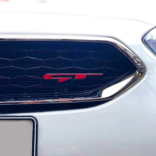 P056 Emblem Aufkleber Passgenau Folie Für Logo Front 2er Set Schutzfolie Dekor Selbstklebend Waschstraßenfest Auto Karminrot Auto