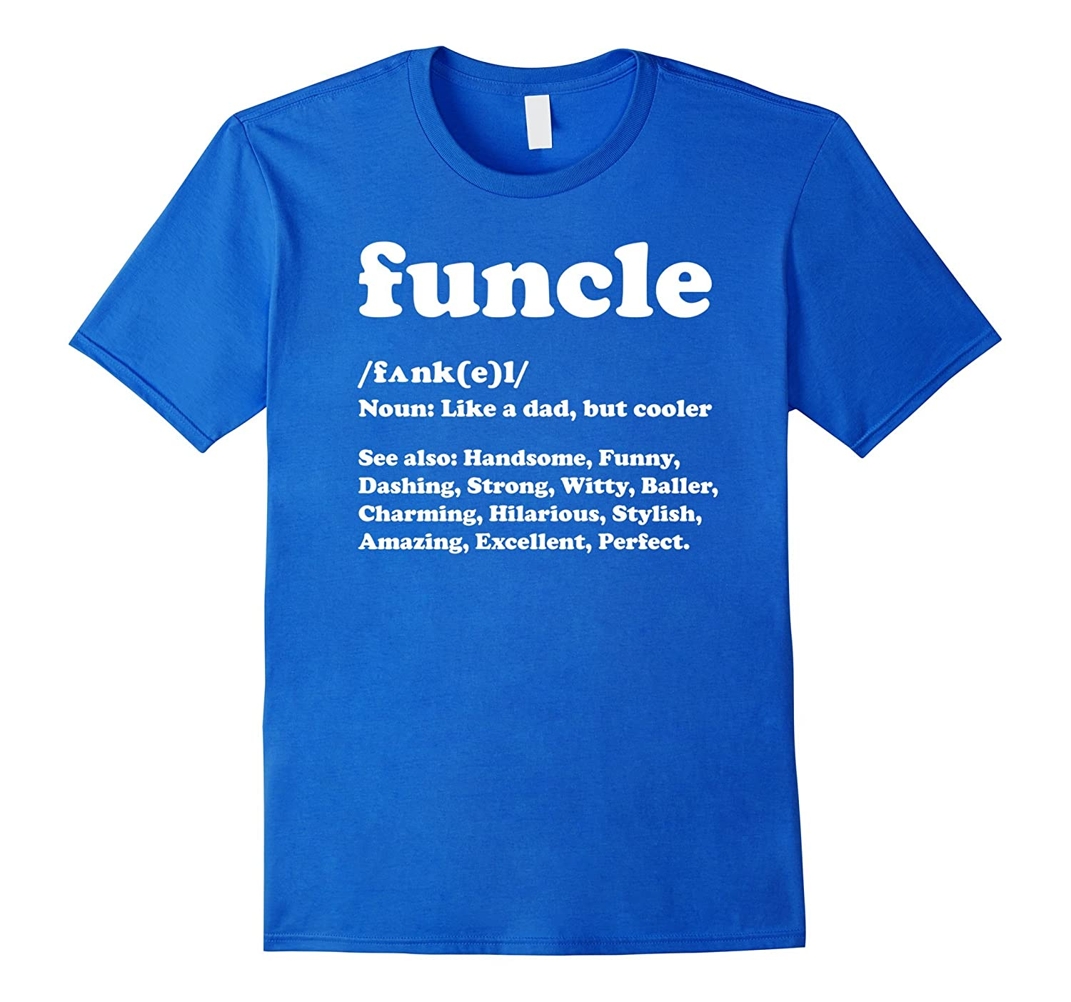 b4f8b078 Funcle T Shirt Like A Dad Only Cooler | Fun Uncle T Shirt-RT ...