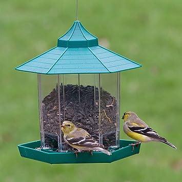 Mirador y comedor de aves en el jardín. Hermosa decoración para su jardín, el