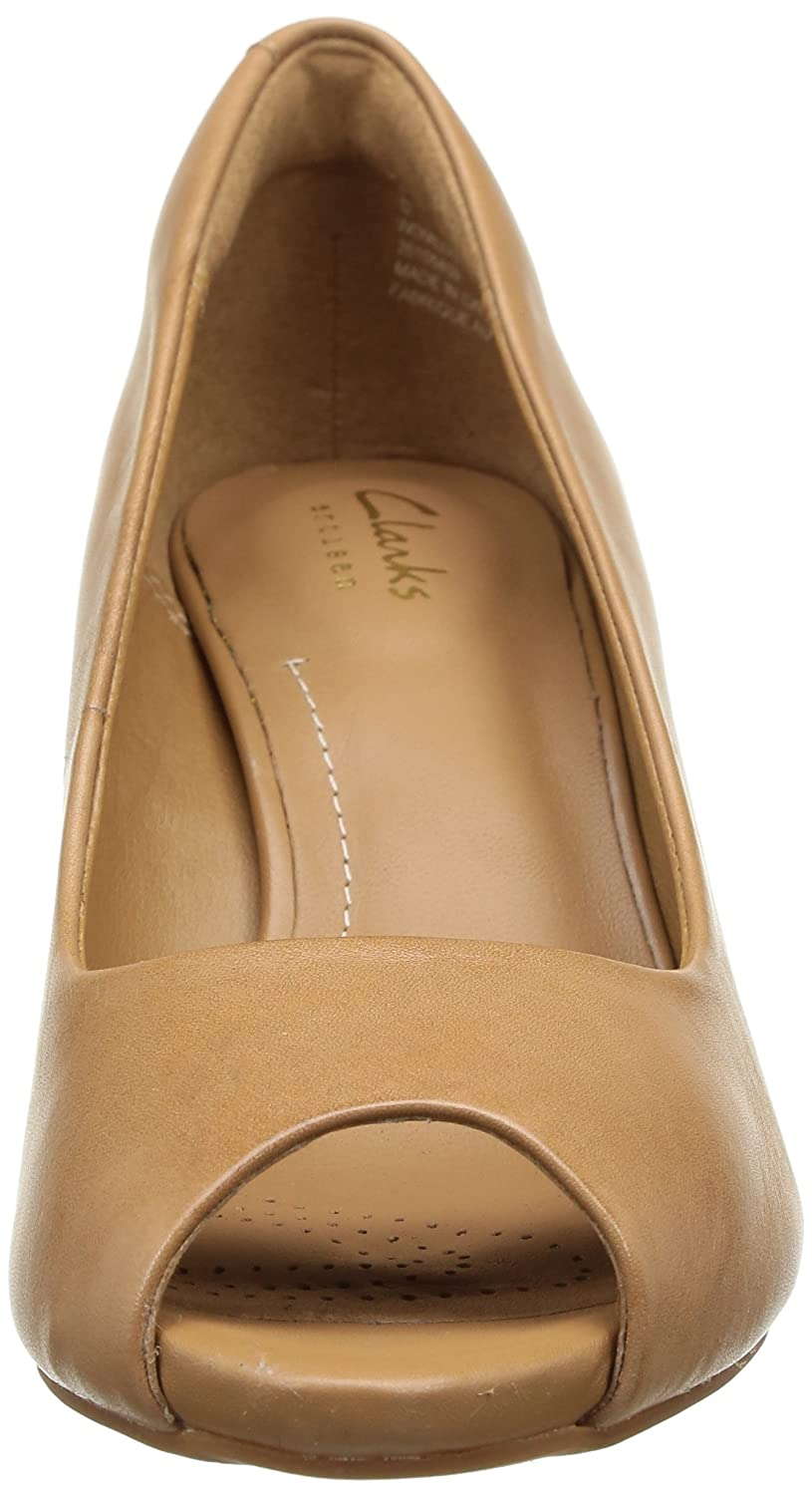 d7291aa12964 Clarks Women s Florine Portia Beige Brown Leather Fashion Sandals - 3  UK India (35.5 EU)  Buy Online at Low Prices in India - Amazon.in