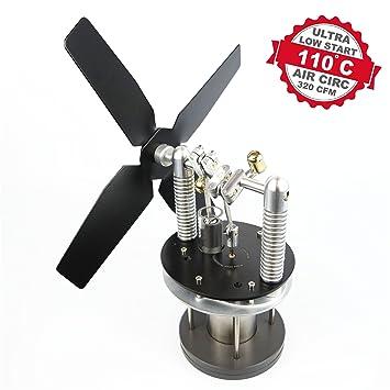 Ventilateur Pour Poele A Bois Moteur Alimente Warpfive Mk6 Stirling