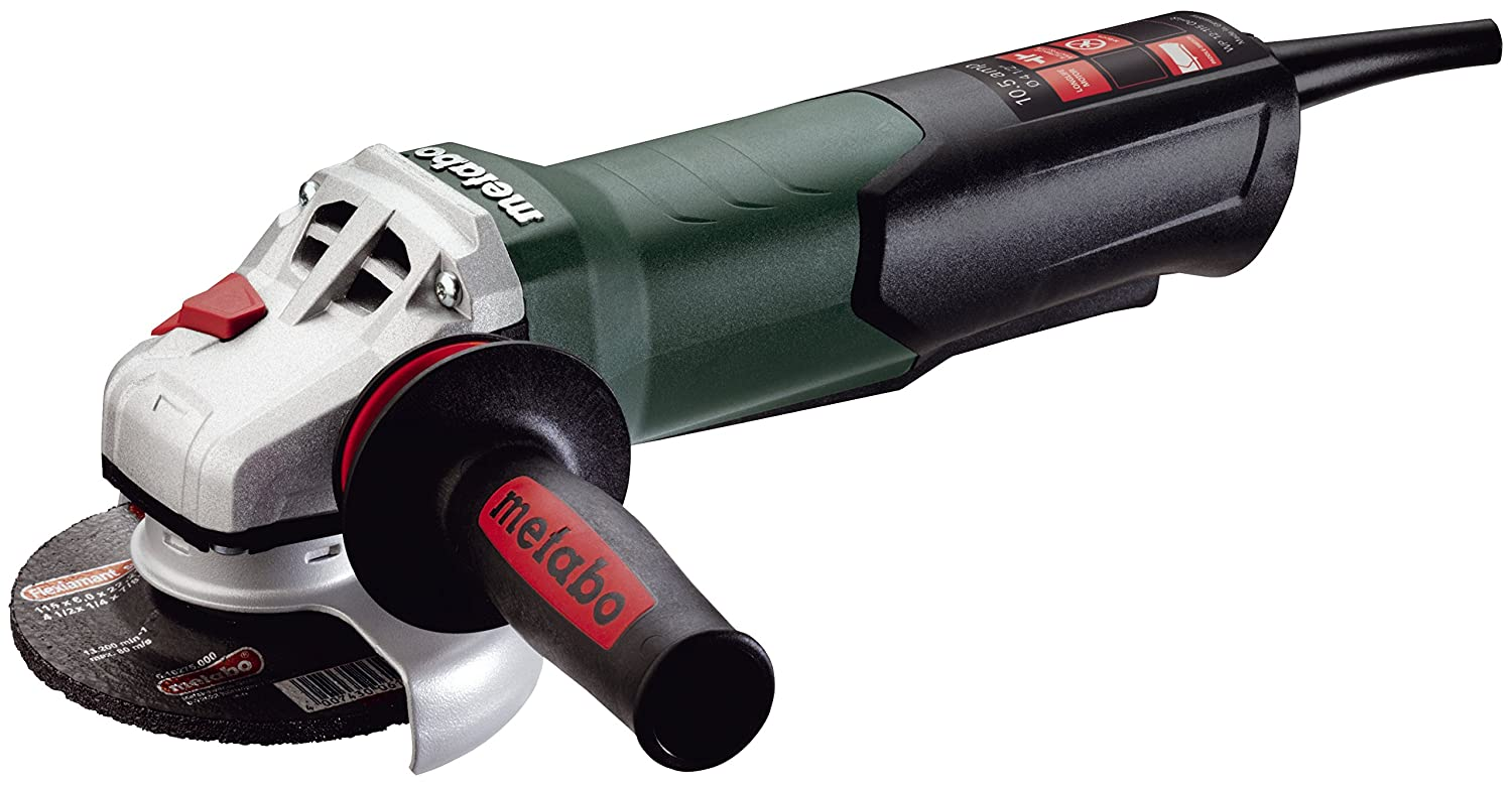 Angle Grinder, 4-1 2in. Dia, 10.5A, Single