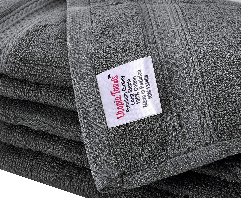 Utopia Towels Ensemble de d/ébarbouillette 700 GSM 30 x 30 cm, Gris Lot de 12 Gants de Toilette