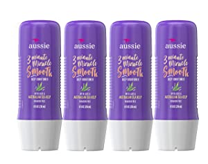 Aussie 3 Minute Miracle Smooth Deep Conditioner 8 oz (Pack of 4)