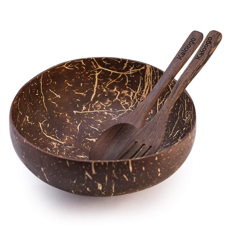 Kaloogo Original Cocobowl Nature Nat/ürliche Kokosnuss Schale poliert