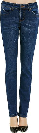 Image ofCamii Mia Pantalones Vaqueros con Forrado Polar Térmico de Invierno de Mujer