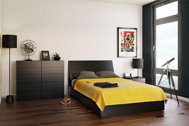 Amazon.com: Avenue Full Size Storage Bed 225406 from Nexera, Black ...
