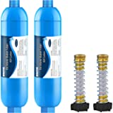 RV Inline Water Filter with Flexible Hose Protector, Certified by NSF to Reduce Bad Taste, Odors, Rust, Chlorine, Lead…