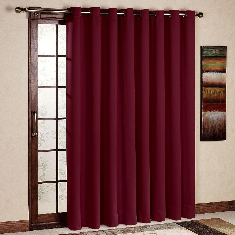 RHF Wide Thermal Blackout Patio door Curtain Panel, Sliding door curtains Antique Bronze Grommet
